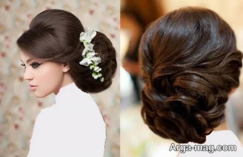 عکس رنگ مو تیره برای عروس