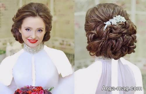 مدل رنگ مو تیره و خاص برای عروس