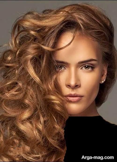 رنگ موی جدید و زیبا کاراملی روشن