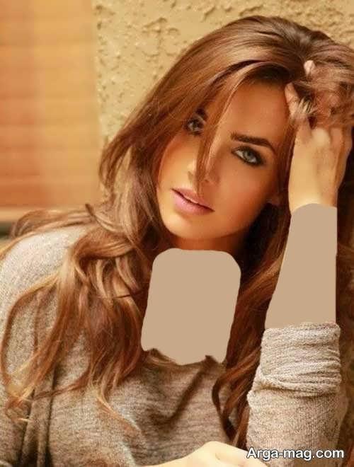 مدل رنگ مو کاراملی روشن