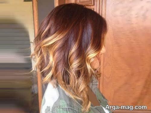 رنگ موی زیبا و شیک کاراملی روشن