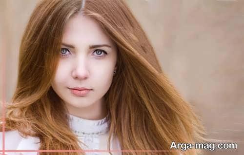 رنگ موی کاراملی روشن دخترانه