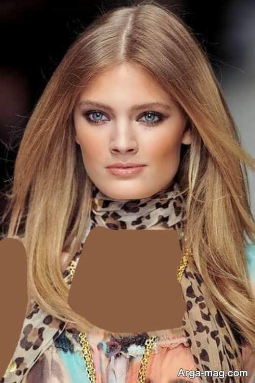 رنگ موی زیبا و شیک موی کاراملی روشن