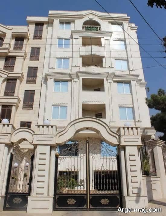 نمای کلاسیک آپارتمان