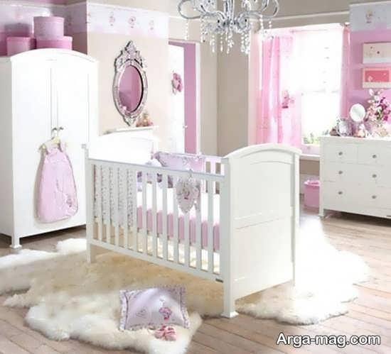دیزاین اتاق نوزاد دخترانه زیبا
