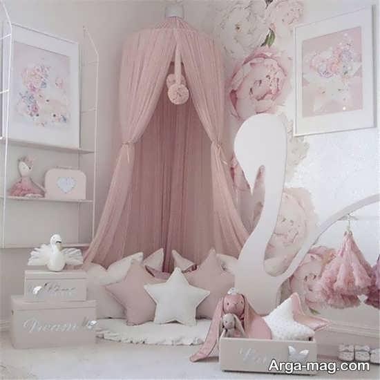 دیزاین اتاق نوزاد دخترانه