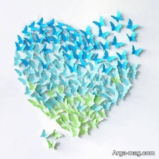 تزیینات دیوار با مقوا به شکل قلب