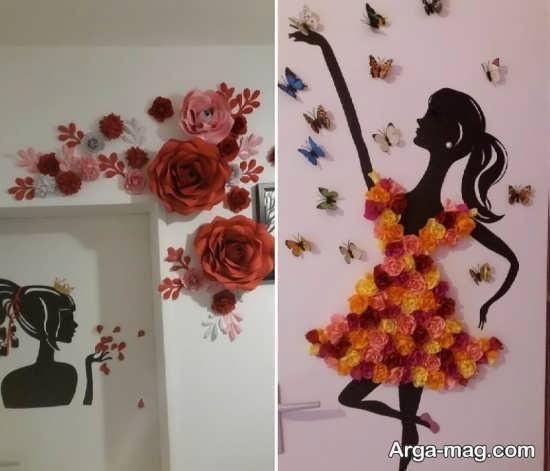 ایده خلاقانه تزیینات دیوار با مقوا
