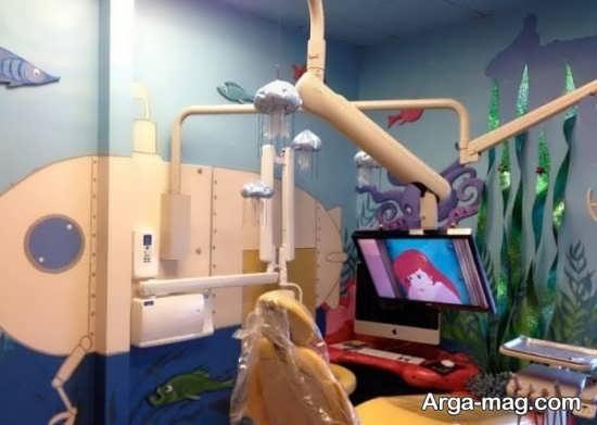 دکور خاص مطب دندان پزشکی اطفال