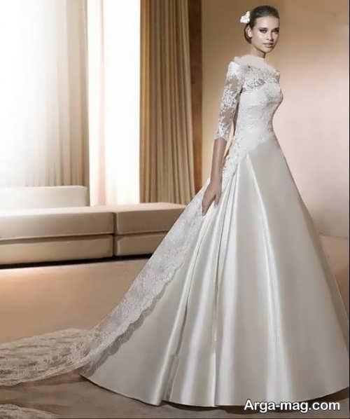 مدل لباس عروس شیک و جدید دانتل دار