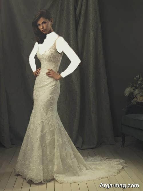 مدل لباس عروس دانتل بلند