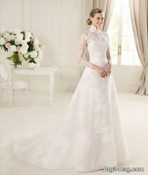 لباس عروس دنباله دار دانتل