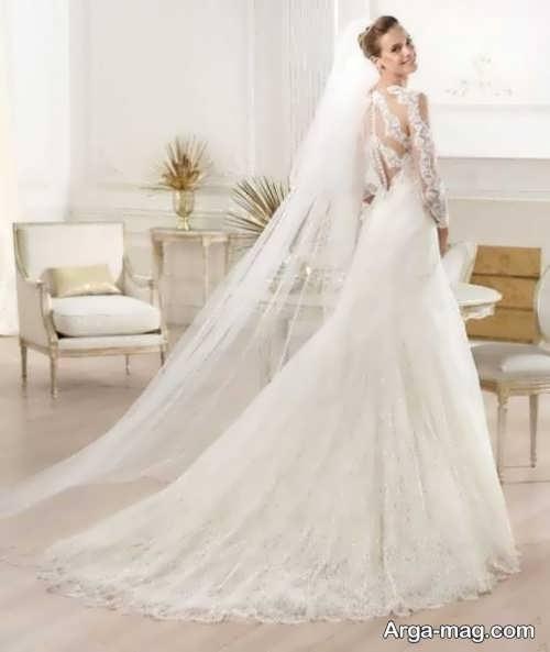لباس عروس پوشیده دانتل