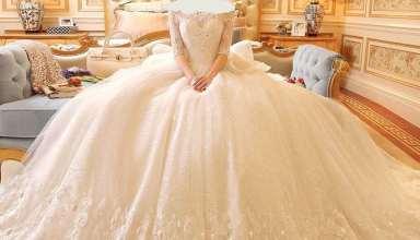 مدل لباس عروس دانتل شیک و زیبا