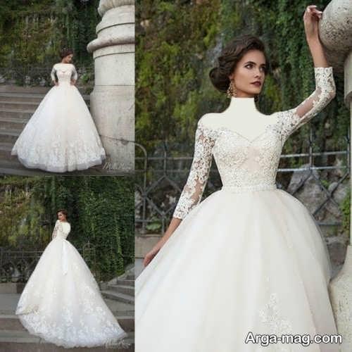 لباس عروس شیک و جذاب دانتل دار