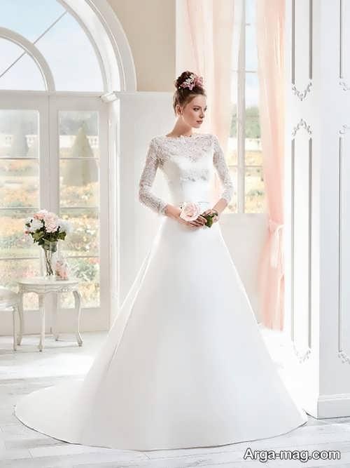 مدل لباس عروس پوشیده و شیک دانتل