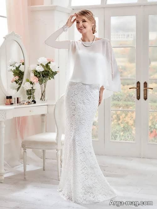 مدل لباس عروس زیبا و شیک دانتل دار