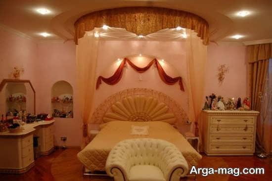 طراحی اتاق خواب شیک عروس