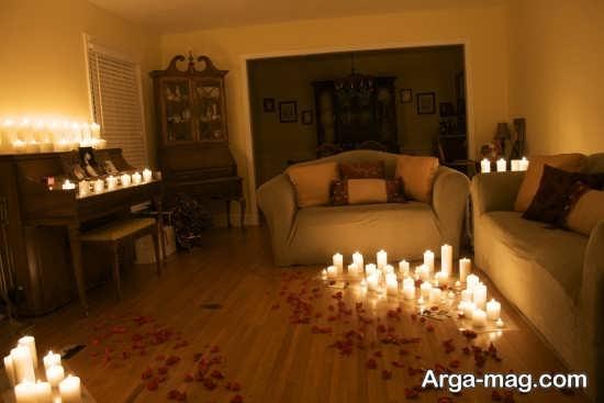 تزیین خانه عروس با شمع