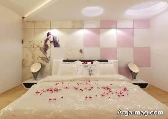تزیین زیبا اتاق خواب عروس