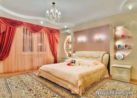 طراحی شیک و زیبا اتاق خواب عروس