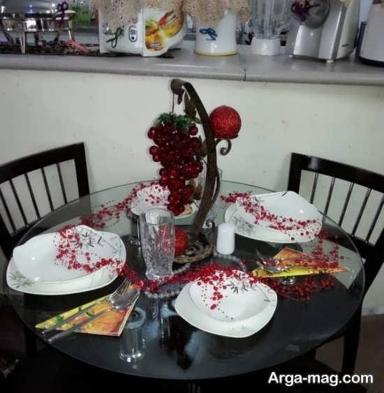 تزیین میز ناهار خوری عروس