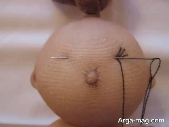 ساخت چشم عروسک با نخ