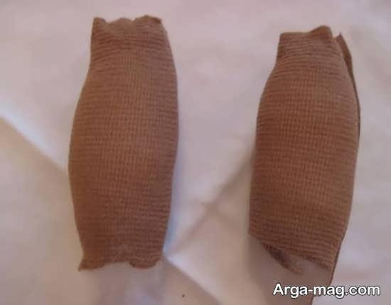 پر کردن جوراب زنانه با پنبه