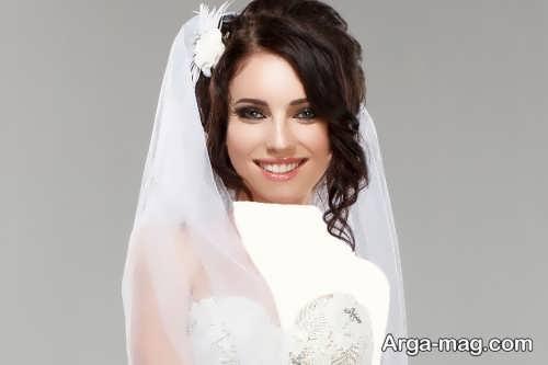 مدل آرایش صورت شیک عروس