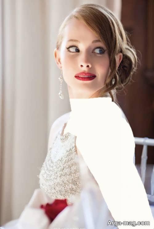 مدل آرایش لایت عروس اروپایی