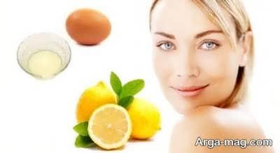 ماسک سفیده تخم مرغ و لیمو