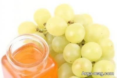 ماسک عسل و انگور