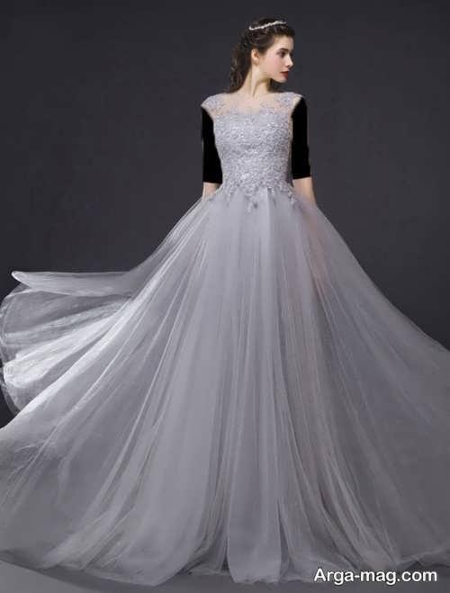 مدل لباس مجلسی بلند با پارچه حریر زنانه و دخترانه
