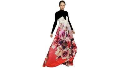مدل لباس مجلسی بلند با پارچه حریر و شیک