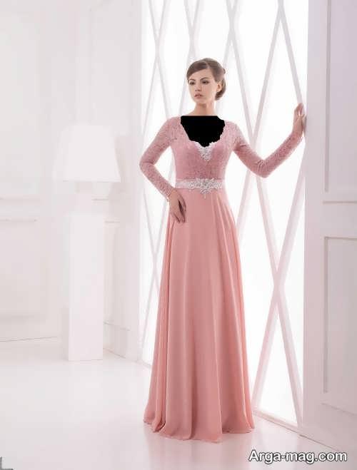 مدل های لباس مجلسی دخترانه با پارچه کرپ