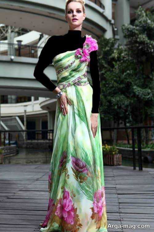 مدل لباس مجلسی زنانه شیک و زیبا حریر