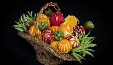 ایده هایی برای تزیین ظرف میوه خواستگاری