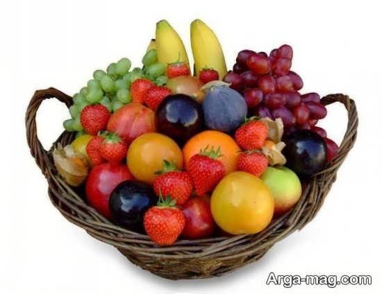 تزیین خاص و شیک سبد میوه