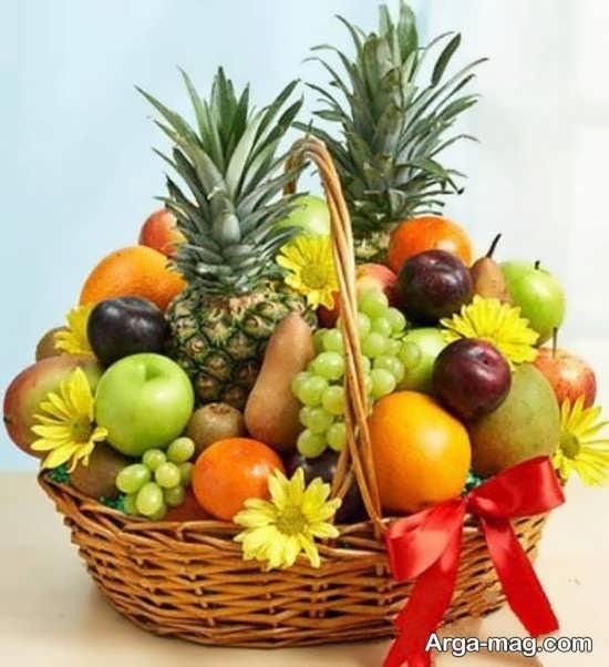 تزیین شیک و خاص ظرف میوه خواستگاری