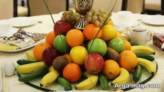 تزیین ساده ظرف میوه خواستگاری