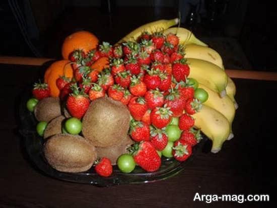 تزیین ساده و جالب ظرف میوه