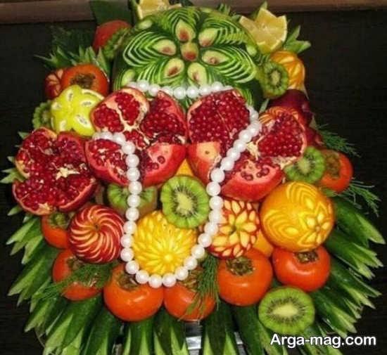 تزیین ظرف میوه برای خواستگاری