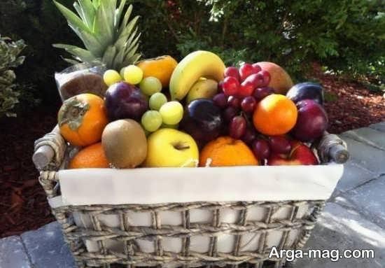 تزیین سبد میوه با کمک ایده های خلاقانه