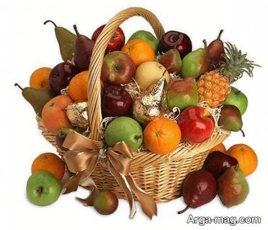 تزیین زیبا و خاص سبد میوه