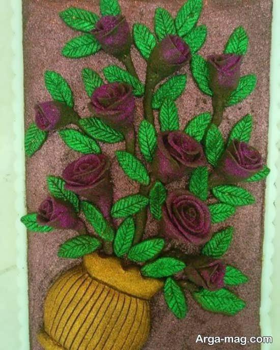 تزیین حنا به شکل گلدان