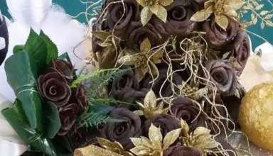 تزیین حنا به شکل گل با کمک ایده های خلاقانه