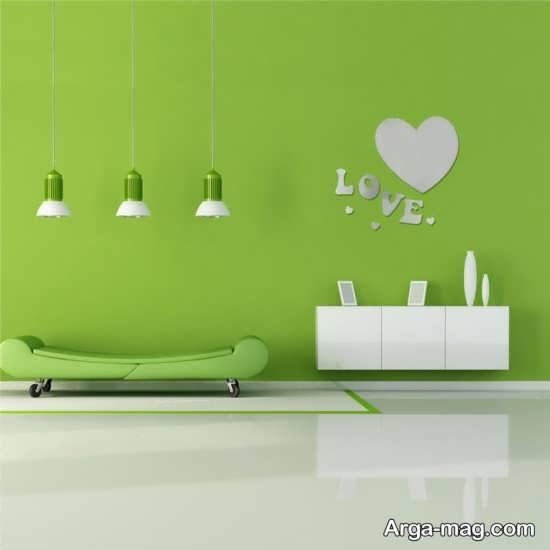 دکوراسیون رنگ سبز
