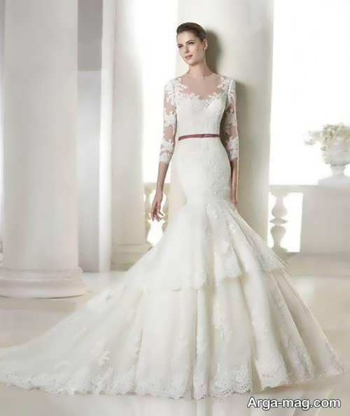 لباس عروس دانتل با طرح های قشنگ