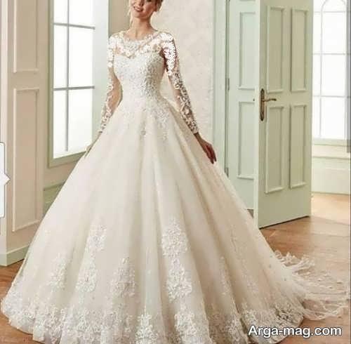لباس عروس دانتل با طرح های جالب
