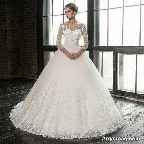 لباس عروس دانتل با طرح های متفاوت
